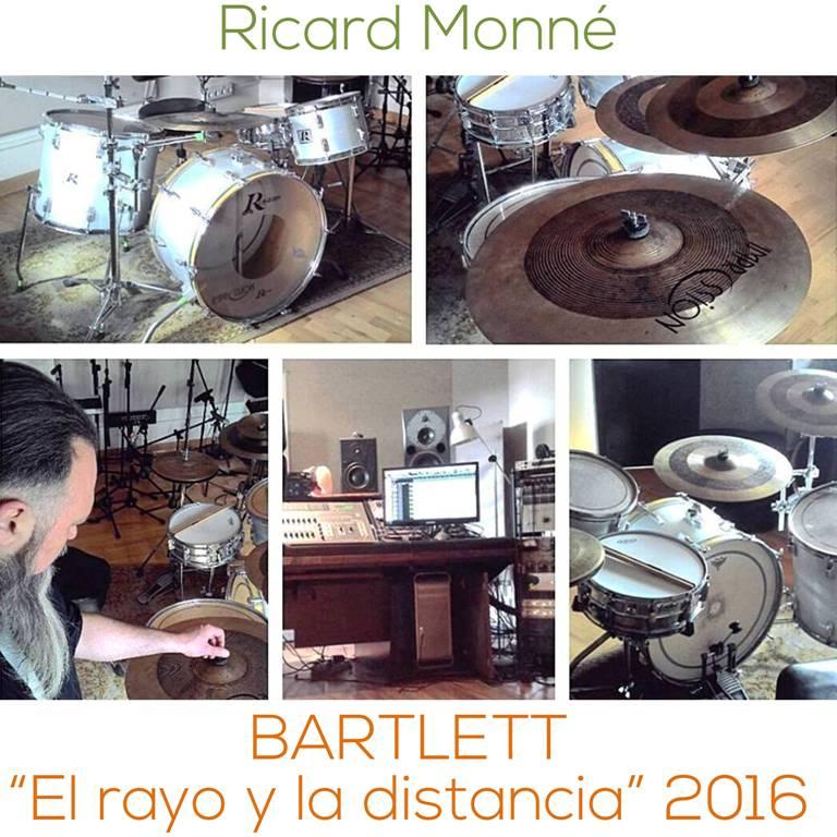 Afimacion de baterias - Ricard Monne - Bartlett - El rayo y la distancia - Instagram - www.happyfrogdrums.com