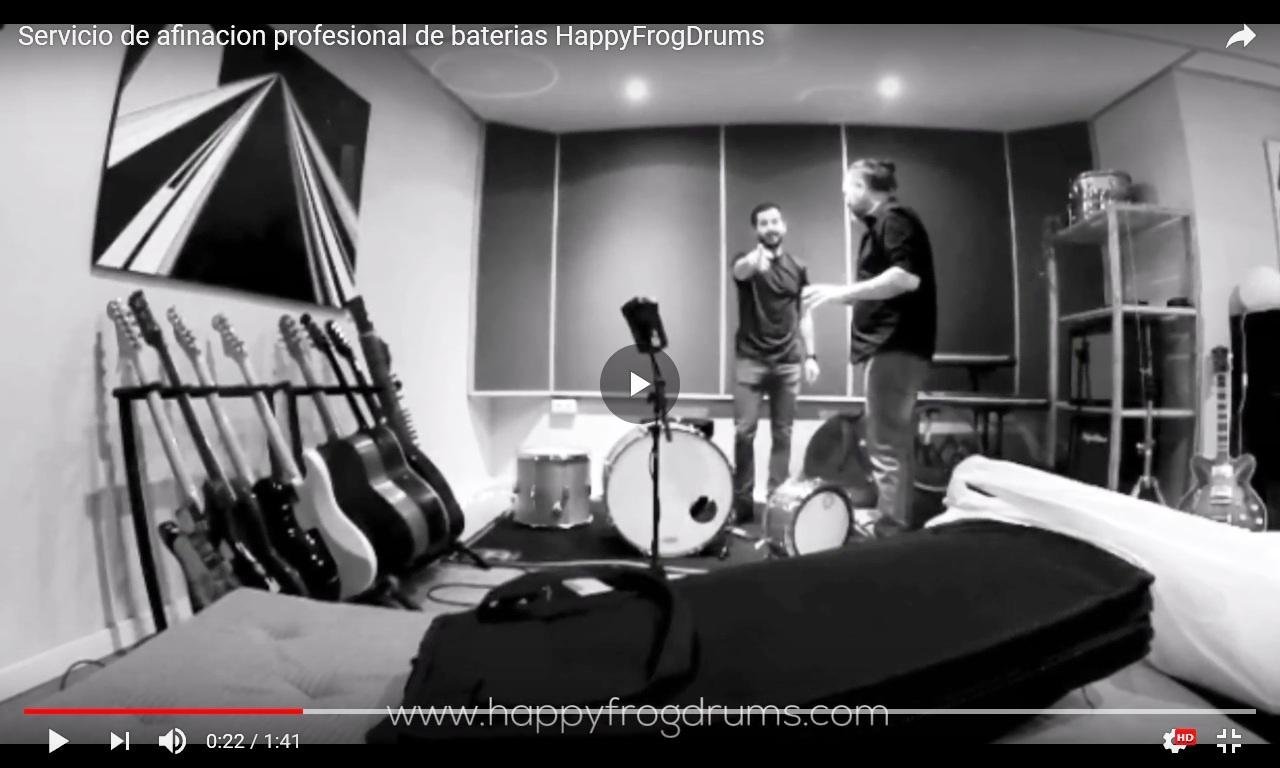 Afinacion profesional de baterias happyfrogdrums.com